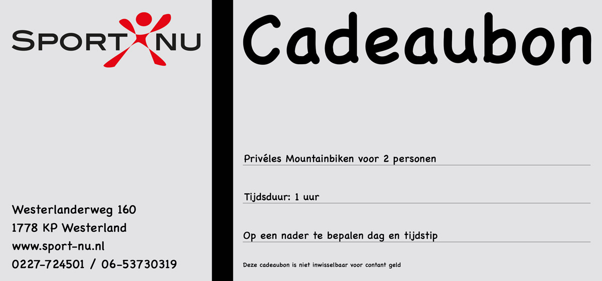 Priveles Cadeaubon-Mountainbiken