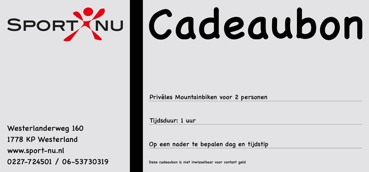 Privéles Cadeaubon-Mountainbiken