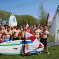 Windsurf-groepsfoto