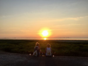Avondwandeling zonsondergang Sport Nu