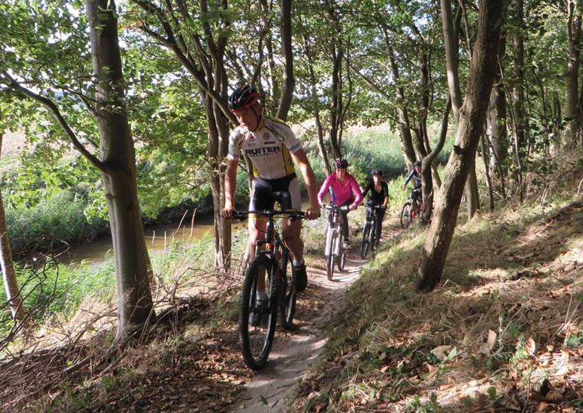Mountainbike groepsuitje