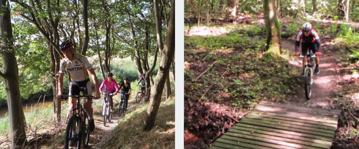 Mountainbike groepsuitje Dijkgatbos Bedrijfsuitjes in noord holland