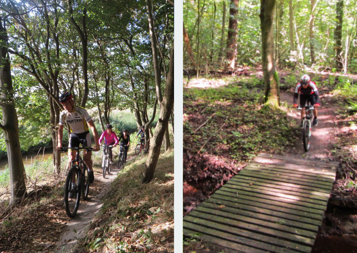 Mountainbike groepsuitje Dijkgatbos