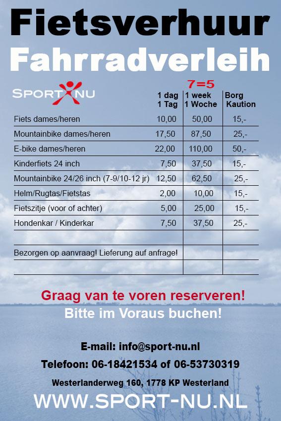 fietsverhuur-wieringen-noord-holland/