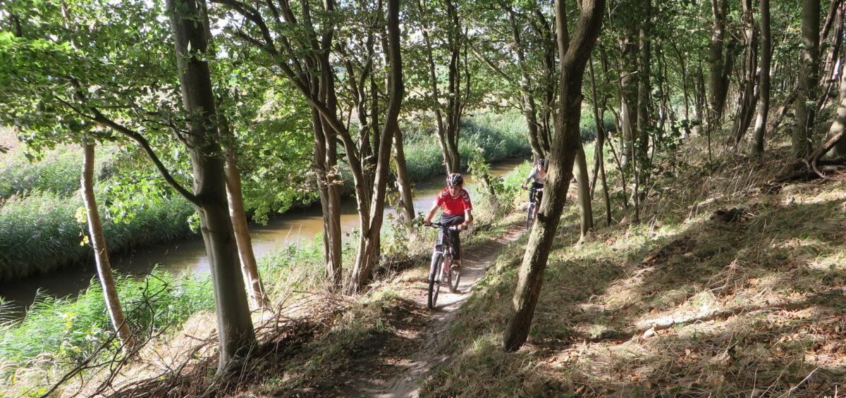Mountainbiken voor scholen Dijkgatbos