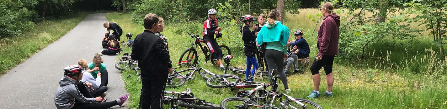 Mountainbiken voor scholen dijkgatbos 1